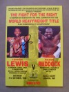 Lennox Lewis vs Donovan Razor Ruddock Commonwealth Heavyweight Title Official Onsite Programme SIGNED By Lennox Lewis