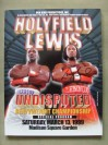 Lennox Lewis vs Evander Holyfield I Undisputed World Heavyweight Title Official Onsite Programme SIGNED By Lennox Lewis