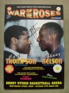 Carl Thompson vs Johnny Nelson WBO Cruiserweight World Title Official Onsite Programme SIGNED By Johnny Nelson