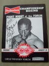 Roger Mayweather vs Pedro De La Cruz Official Onsite Programme SIGNED By Roger THE REAL BLACK MAMBA