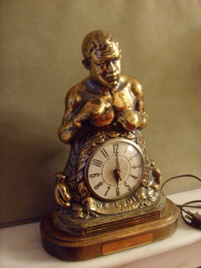Joe Louis Beautiful Solid Brass Clock Previously Owned By Sylvester Stallone