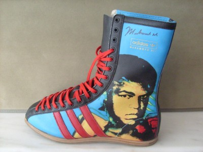 Muhammad Ali SIGNED Limited Edition Andy Warhol Adidas Boxing Boot
