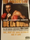 Floyd Mayweather Jr vs Gregorio Vargas Also Oscar De La Hoya vs Oba Carr HBO Fight Poster