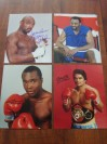 FABULOUS FOUR Hagler And Hearns Plus Leonard And Duran Would Fight One Another 9 Times In The 80s And Win 16 World Titles Between Them SIGNED Photos