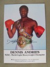 Dennis Andries Former British Light Heavy And Cruiserweight And The WBC World Light Heavyweight Champion SIGNED Promotional Photo