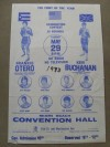 RARE Ken Buchanan vs Frankie Otero I Lightweight 10 Round Contest Official Onsite Poster
