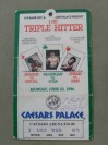 Thomas Hearns and Roberto Duran Plus Barry McGuigan Official Onsite Ticket Billed The Triple Hitter
