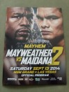 Floyd Mayweather Jr vs Marcos Maidana II WBC Welterweight And WBA Super Welterweight World Title Official Onsite Programme