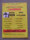 Nigel Benn vs Mike Chilambe also Featuring Chris Eubank vs Anthony Logan Official Handbill Poster