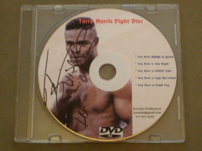 Terry Norris Former WBC And IBF Light Middleweight World Champion And Hall Of Famer SIGNED And INSCRIBED 4 Fight DVD Picture Cover Disc