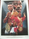 Terry Norris Former 4 x Light Middleweight World Champ SIGNED Ltd Edition Lithograph Later Presented To And Then SIGNED And INSCRIBED By Marvin Hagler