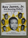 Roy Jones Jr 1990s Fighter Of The Decade SIGNED Professional Debut Official Onsite Programme
