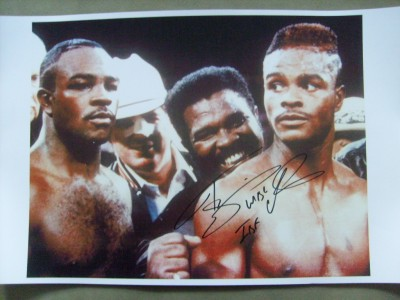 Terry Norris Former WBC And IBF Light Middleweight World Champion And Hall Of Famer SIGNED And INSCRIBED Large Laser Image Photo