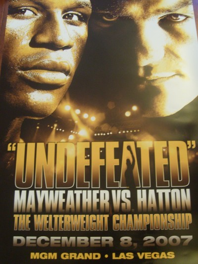 Floyd Mayweather Jr vs Ricky Hatton Official Onsite Poster