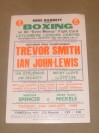 Trevor Smith vs Ian John Lewis SMALL HALL FIGHT OF THE YEAR Southern Area Welterweight Title Official Onsite Poster
