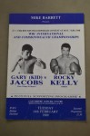 Gary Jacods vs Rocky Kelly Commonwealth Welterweight Title Official Onsite Programme