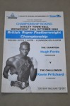 Hugh Forde vs Kevin Pritchard British Super Featherweight Title Official onsite Programme