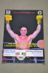 Robert Norton vs Sebastiaan Rothmann Cruiserweight Contest Official Onsite Programme Come Fold Out Poster