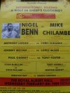 Nigel Benn vs Mike Chilambe also Featuring Chris Eubank vs Anthony Logan Official Onsite Poster
