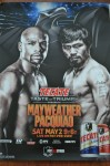 Floyd Mayweather Jr vs Manny Pacquiao WBC And WBO Welterweight Plus WBA Super Welterweight World Title Souvenir Fight Poster