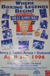 RARE 1996 Olympic Team Trials Official Onsite Poster Featuring Floyd Mayweather Jr Who Would Go On To Atlanta And Win A Bronze Medal