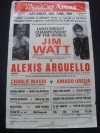 Jim Watt vs Alexis Arguello World Lightweight Title Official Onsite Poster SIGNED By Jim Watt