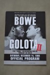 Riddick Bowe vs Andrew Golota II Heavyweight Contest Also Featuring Tim Witherspoon vs Ray Mercer Official Onsite Programme