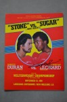 Roberto Duran vs Sugar Ray Leonard II WBC Welterweight World Title Official Onsite Programme SIGNED By Leonard