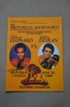 Roberto Duran vs Sugar Ray Leonard I WBC Welterweight World Title Official Onsite Programme SIGNED By Leonard