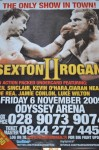 Sam Sexton vs Martin Rogan II Commonwealth Heavyweight Title Official Onsite Poster SIGNED By Sexton