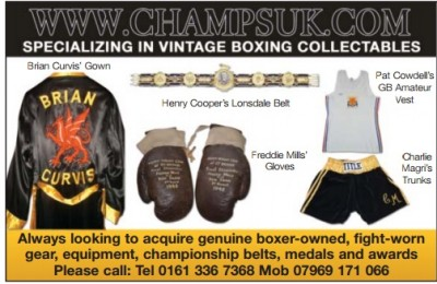 Active And Ex Boxers Seeking To Sell Fight Career Related Items
