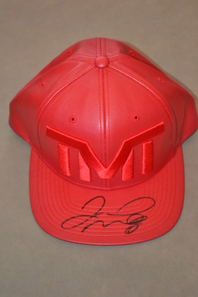 Floyd Mayweather Jr Undefeated 5 Weight World Champion SIGNED Twice TMT Cap