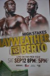 RARE Floyd Mayweather Jr vs Andre Berto WBC Welter And WBA Super Welterweight World Title Official Onsite Poster NOT ISSUED FOR SALE