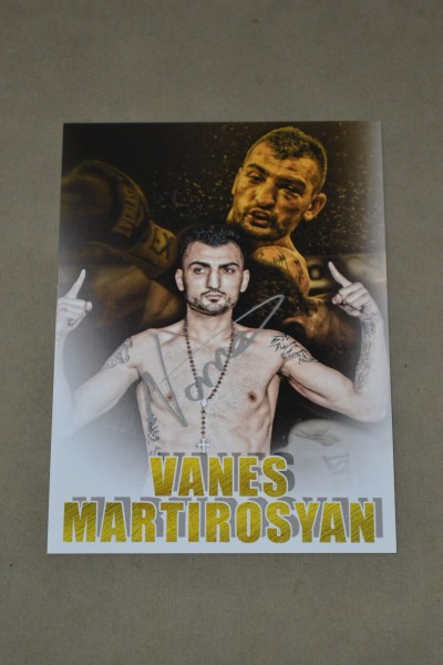 Vanes Martirosyan Light Middleweight World Title Contender SIGNED Promotional Photo