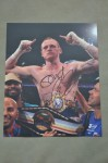 George Groves Former British And Commonwealth Plus European Super Middleweight Champion SIGNED And INSCRIBED Victory Celebration Photo