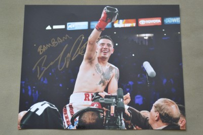 Brandon Rios Former WBA Lightweight World Champion SIGNED And INSCRIBED Victory Celebration Photo
