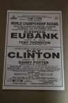 Chris Eubank vs Tony Thorton WBO Super Middleweight World Title Also Pat Clinton vs Danny Porter II Official Onsite Programme