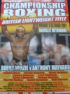 Bobby Vanzie vs Anthony Maynard British Lightweight Title Official Onsite Poster