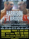 Scott Harrison vs Michael Brodie World Featherweight Title Official Onsite Poster