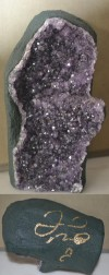 The Worlds Only Amethyst Geode Naturally Formed Crystal Boxing Glove SIGNED By Floyd Mayweather Jr