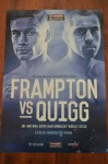 Carl Frampton vs Scott Quigg IBF And WBA Super Bantamweight World Title Official Onsite Poster