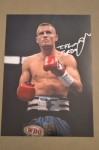 Terry Flanagan MANCHESTERS Undefeated WBO Lightweight World Champion SIGNED And INSCRIBED Ringside Photo