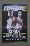Terry Flanagan vs Jose Zepeda WBO Lightweight World Title Official Onsite Programme SIGNED And INSCRIBED By Terry TURBO Flanagan