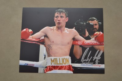 Anthony MILLION DOLLAR Crolla Former British And Current WBA Lightweight World Champion SIGNED And INSCRIBED Photo
