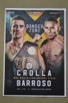 Anthony Crolla vs Ismael Barroso WBA Lightweight World Title DUAL SIGNED Fight Promotional Flyer