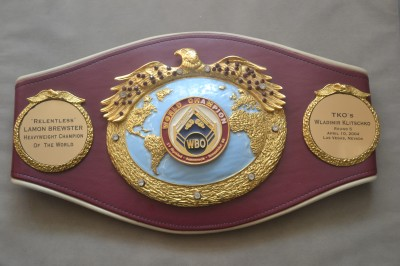 Lamont Brewster Former Heavyweight World Champ Previously Owned Original WBO Engraved Belt Awarded To Him After Defeating Wladimir Klitschko