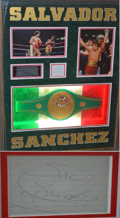 Special SALVADOR SANCHEZ Tribute Complimented With EXTREMELY RARE Autograph Of The Mexican Legend Who Tragically Died So Young