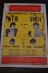 Johnny Owen ORIGINAL Onsite Poster From The Fight That Tragically Took His Life Also SIGNED And INSCRIBED By Opponent Lupe Pintor