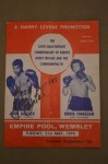 John Conteh v Chris Finnegan II British And Commonwealth Plus European Light Heavyweight Title Official Onsite Programme SIGNED By Former Champ Conteh