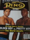 Floyd Mayweather Jr SIGNED Ring Magazine Prior to His Fight Billed The World Awaits with Oscar De La Hoya